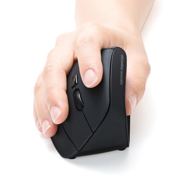 エルゴノミクスマウス ワイヤレスマウス 無線 エルゴ 2.4Ghz 6ボタン(即納)|sanwadirect|19
