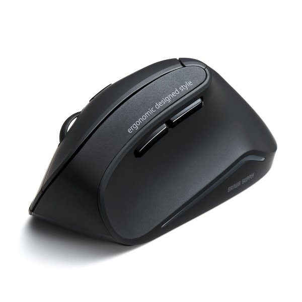 エルゴノミクスマウス ワイヤレスマウス 無線 エルゴ 2.4Ghz 6ボタン(即納)|sanwadirect|20