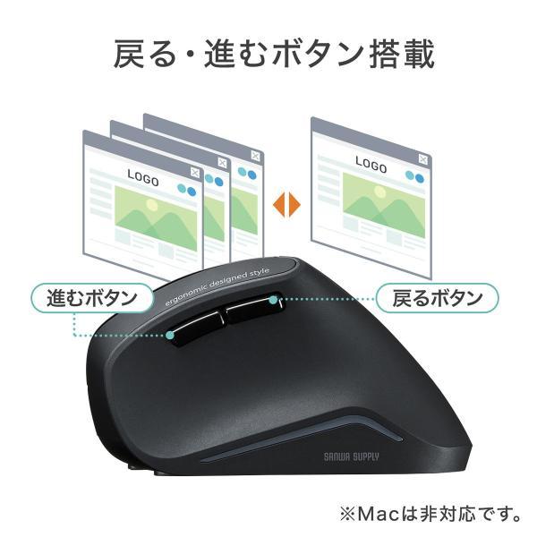 エルゴノミクスマウス ワイヤレスマウス 無線 エルゴ 2.4Ghz 6ボタン(即納)|sanwadirect|09