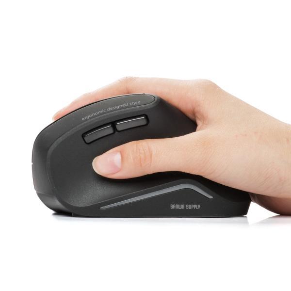 エルゴノミクスマウス Bluetooth ブルートゥース エルゴ 無線  6ボタン|sanwadirect|17