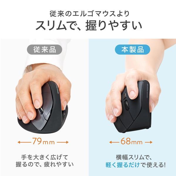 エルゴノミクスマウス Bluetooth ブルートゥース エルゴ 無線  6ボタン|sanwadirect|04