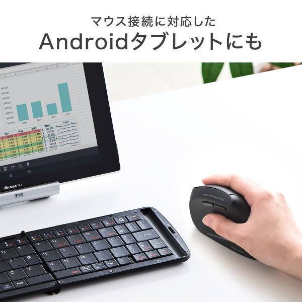 エルゴノミクスマウス Bluetooth ブルートゥース エルゴ 無線  6ボタン|sanwadirect|08