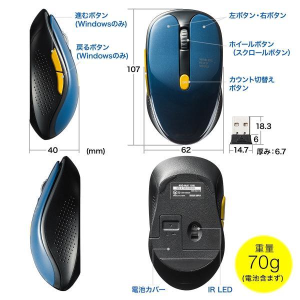 ワイヤレスマウス  静音 無線(即納)|sanwadirect|13