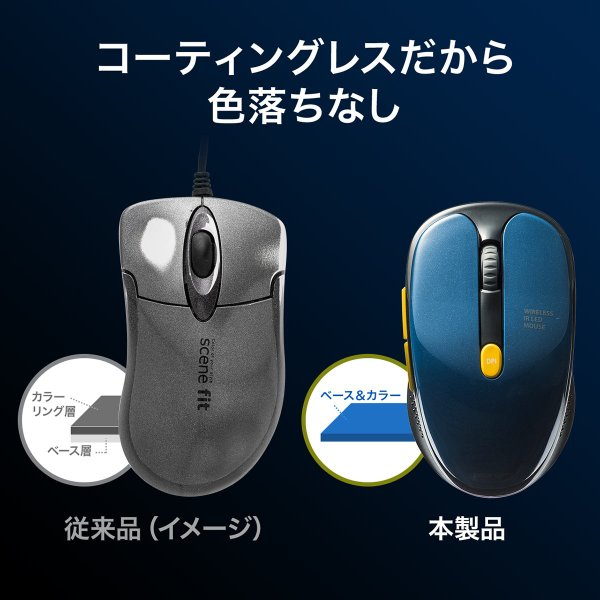 ワイヤレスマウス  静音 無線(即納)|sanwadirect|04