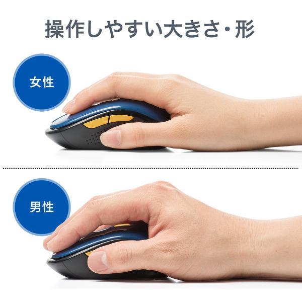 ワイヤレスマウス  静音 無線(即納)|sanwadirect|10