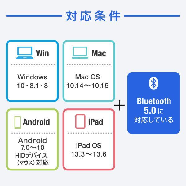 ワイヤレスマウス ブルートゥース 充電式 マルチペアリング 薄型 折りたたみ 3ボタン Bluetooth|sanwadirect|11