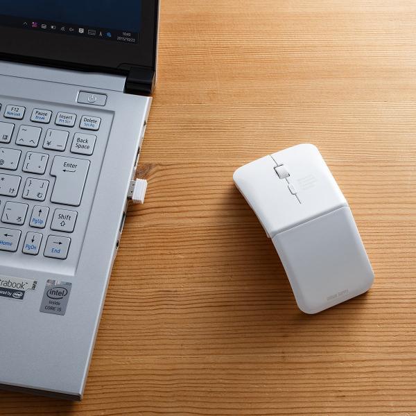 ワイヤレスマウス 充電式 薄型 折りたたみ 3ボタン|sanwadirect|17