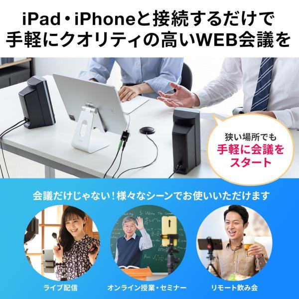 スピーカーフォン 会議用 マイク 電話会議 スカイプ FaceTime(即納) sanwadirect 02