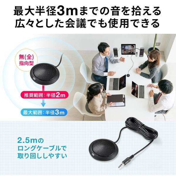 スピーカーフォン 会議用 マイク 電話会議 スカイプ FaceTime(即納) sanwadirect 07
