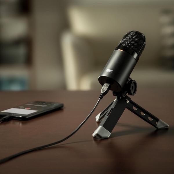 USB マイク iPhoneマイク 録音 レコーディング 高音質 ハイレゾ マイクロフォン(即納)|sanwadirect|17