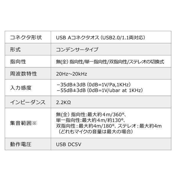 USBマイク 高音質 ハイレゾ録音 PC パソコン マイクロフォン(即納)|sanwadirect|15