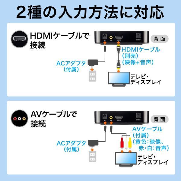 メディアプレーヤー HDMI USBメモリ SDカード(即納)|sanwadirect|04