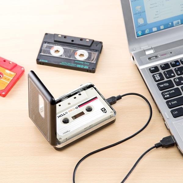 カセットテープ デジタル化 MP3 変換プレーヤー|sanwadirect|07