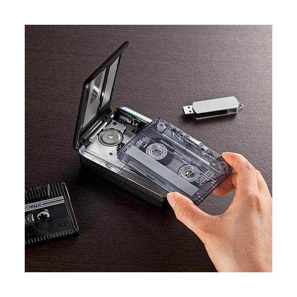 カセットテープ デジタル化 カセットテープ変換プレーヤー MP3変換 USB保存(即納)|sanwadirect|12