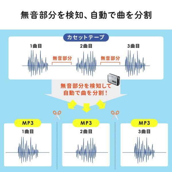 カセットテープ デジタル化 カセットテープ変換プレーヤー MP3変換 USB保存(即納)|sanwadirect|05
