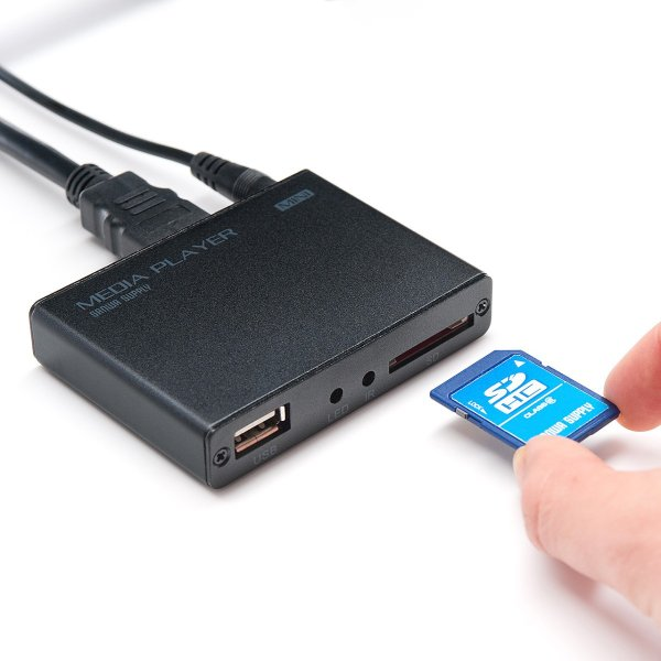 メディアプレーヤー HDMI USBメモリ SDカード メディアプレイヤー|sanwadirect|16