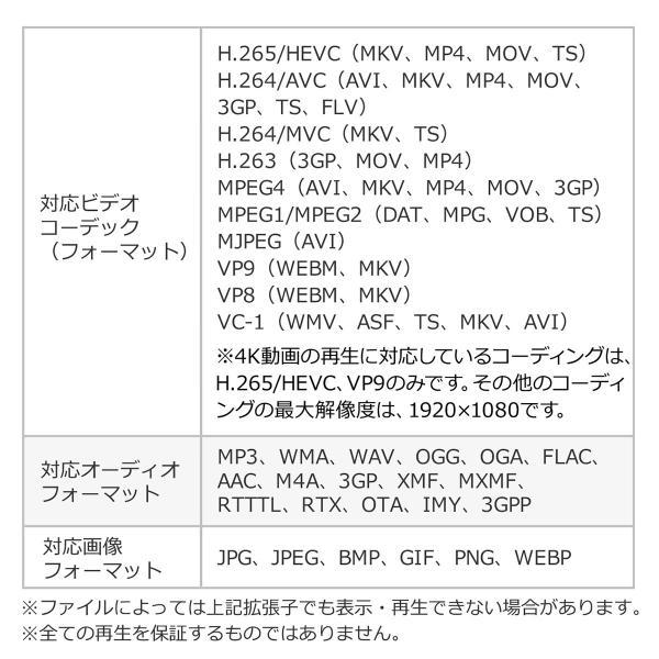 メディアプレーヤー HDMI USBメモリ SDカード メディアプレイヤー 4K対応(即納) sanwadirect 13