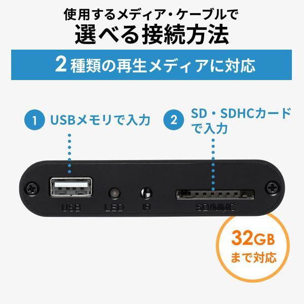 メディアプレーヤー HDMI USBメモリ SDカード メディアプレイヤー 4K対応(即納) sanwadirect 09