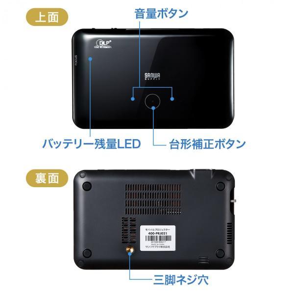 プロジェクター小型 家庭用 モバイルプロジェクター スマホ 本体(即納)|sanwadirect|14