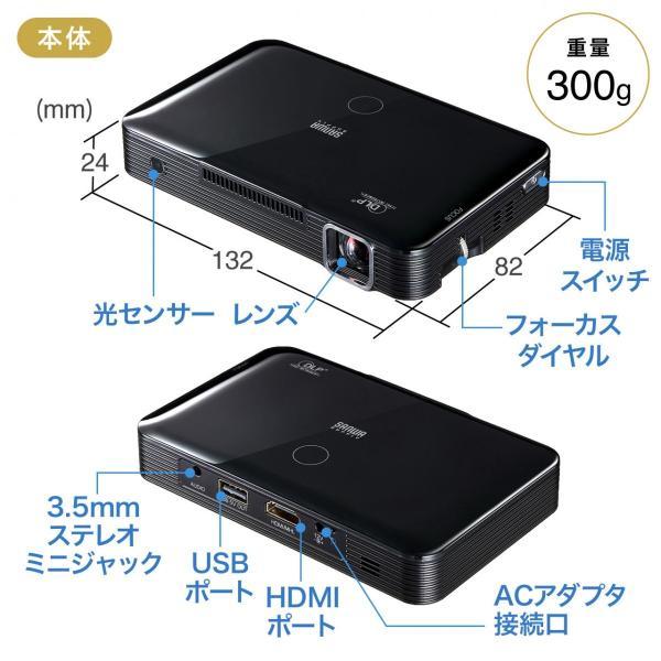 プロジェクター小型 家庭用 モバイルプロジェクター スマホ 本体(即納)|sanwadirect|15