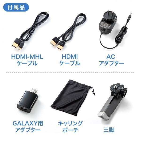 プロジェクター小型 家庭用 モバイルプロジェクター スマホ 本体 ミニプロジェクター|sanwadirect|16