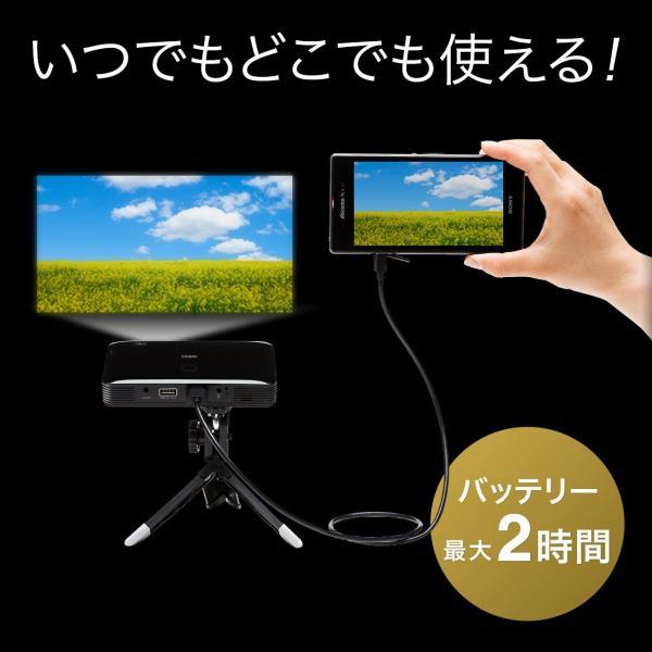 プロジェクター 小型 家庭用 モバイルプロジェクター スマホ 本体 ポータブルプロジェクター(即納)|sanwadirect|03