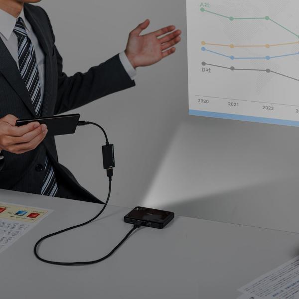 プロジェクター 小型 ポータブル HDMI モバイル ポータブル 家庭用(即納)|sanwadirect|19