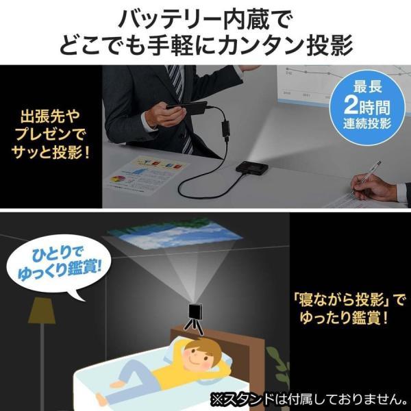 プロジェクター 小型 ポータブル HDMI モバイル ポータブル 家庭用(即納)|sanwadirect|06