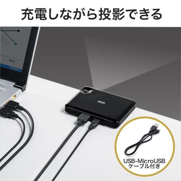 プロジェクター 小型 ポータブル HDMI モバイル ポータブル 家庭用(即納)|sanwadirect|07