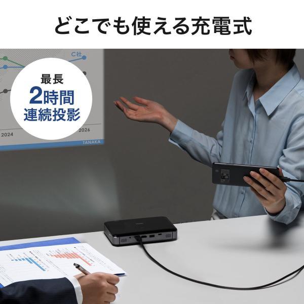 プロジェクター 小型 ポータブル HDMI USB Type-C・HDMI搭載 モバイル コンパクト ミニプロジェクター|sanwadirect|12