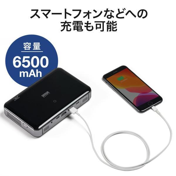 プロジェクター 小型 ポータブル HDMI USB Type-C・HDMI搭載 モバイル コンパクト ミニプロジェクター|sanwadirect|14