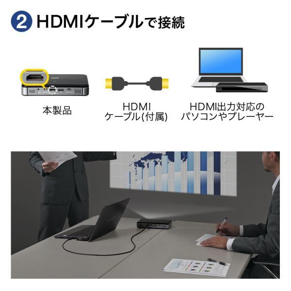 プロジェクター 小型 ポータブル HDMI USB Type-C・HDMI搭載 モバイル コンパクト ミニプロジェクター|sanwadirect|07