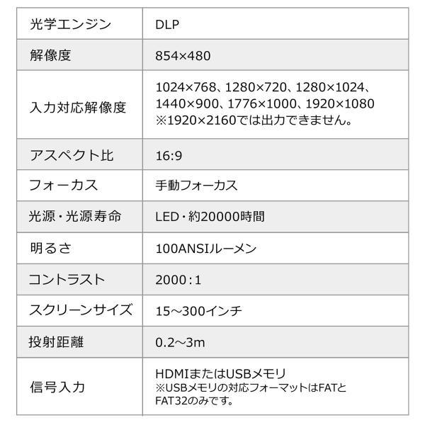 プロジェクター 小型 天井投影 micro HDMI モバイルプロジェクター ミニプロジェクター(即納)|sanwadirect|12