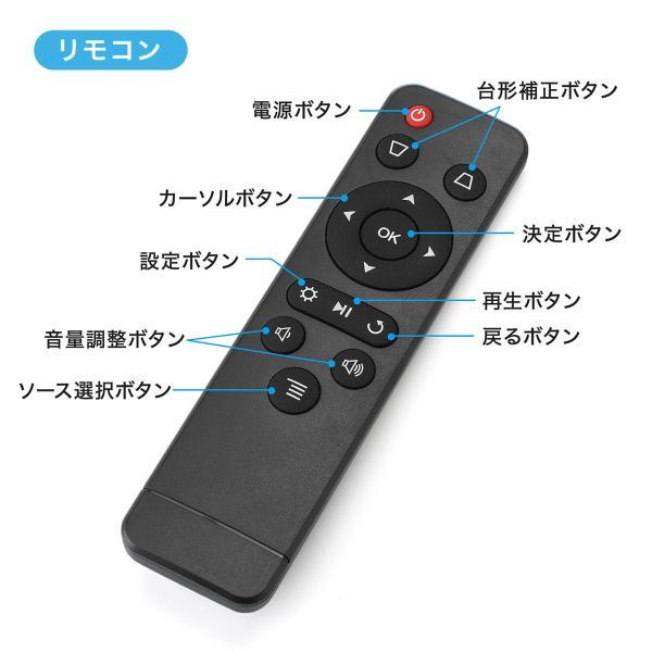 プロジェクター 小型 天井投影 micro HDMI モバイルプロジェクター ミニプロジェクター(即納)|sanwadirect|16