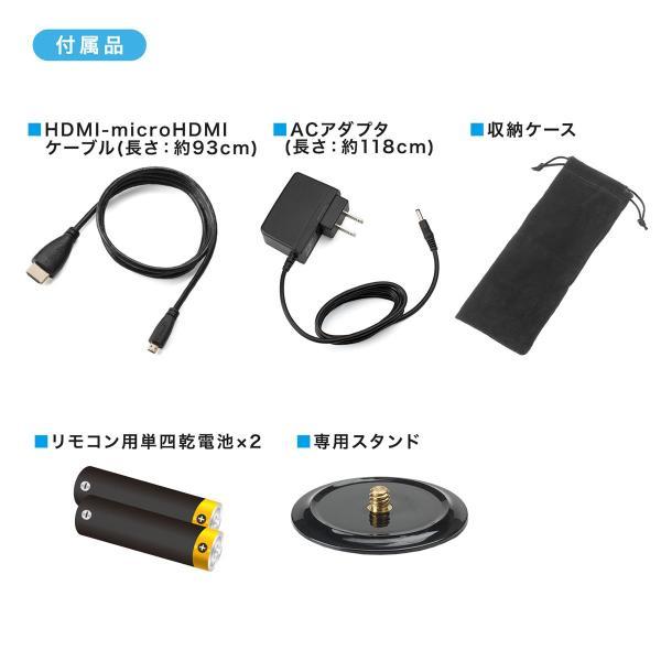 プロジェクター 小型 天井投影 micro HDMI モバイルプロジェクター ミニプロジェクター(即納)|sanwadirect|17