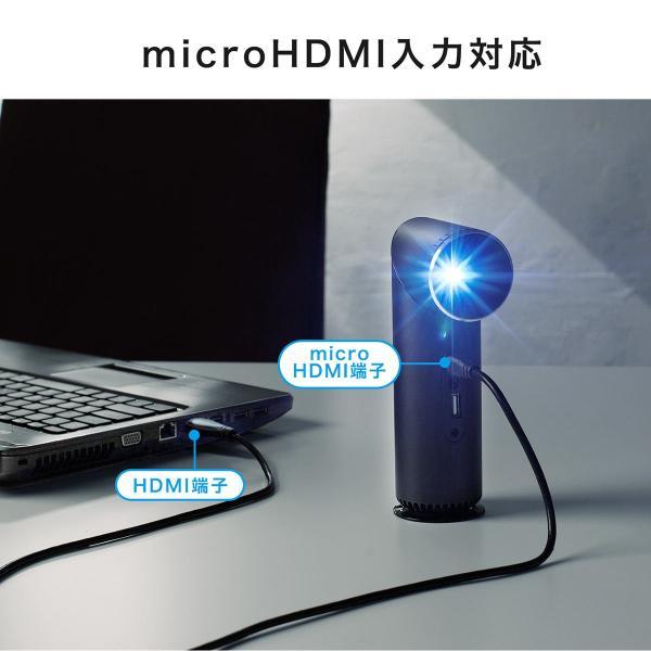 プロジェクター 小型 天井投影 micro HDMI モバイルプロジェクター ミニプロジェクター(即納)|sanwadirect|07