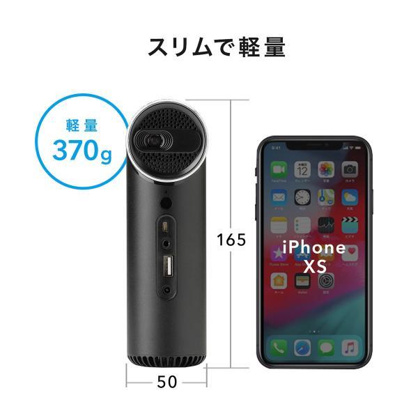 プロジェクター 小型 天井投影 micro HDMI モバイルプロジェクター ミニプロジェクター(即納)|sanwadirect|10