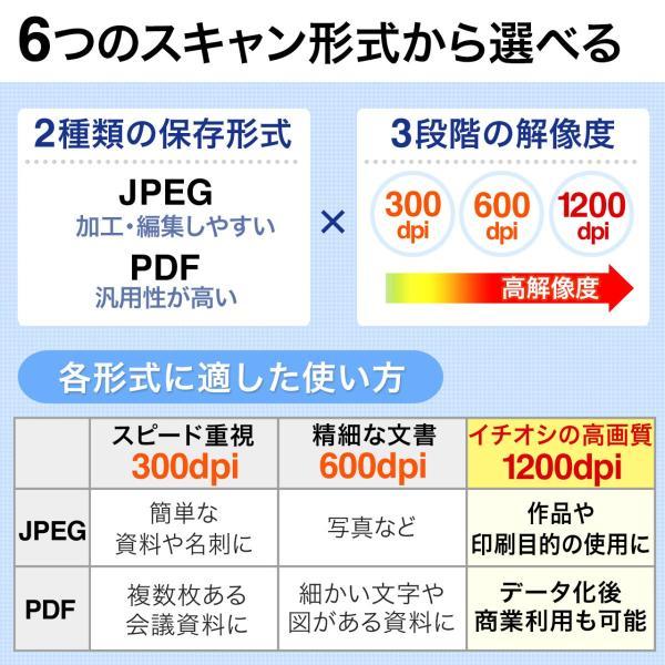 写真 スキャナー A4 モバイルスキャナ ハンディ スキャナ フォトスキャナー 自炊(即納)|sanwadirect|03