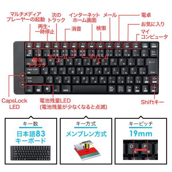 キーボード マウス セット ワイヤレス 静音マウス(即納)|sanwadirect|03