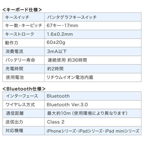 折りたたみキーボード ワイヤレス Bluetooth ブルートゥース 無線 iPhone(即納)|sanwadirect|15