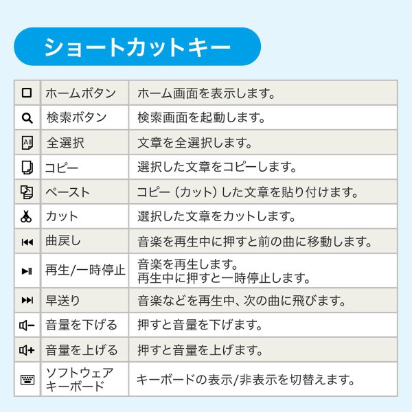折りたたみキーボード ワイヤレス Bluetooth ブルートゥース 無線 iPhone(即納)|sanwadirect|07