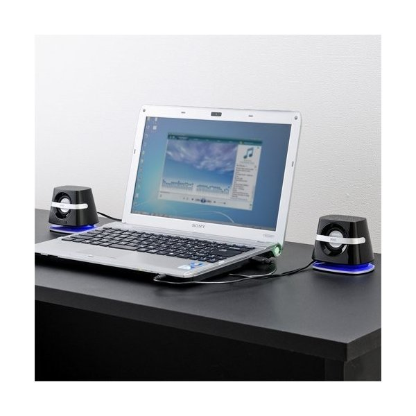 スピーカー 小型 USB PCスピーカー パソコンスピーカー コンパクト 高音質 スピーカー|sanwadirect|13