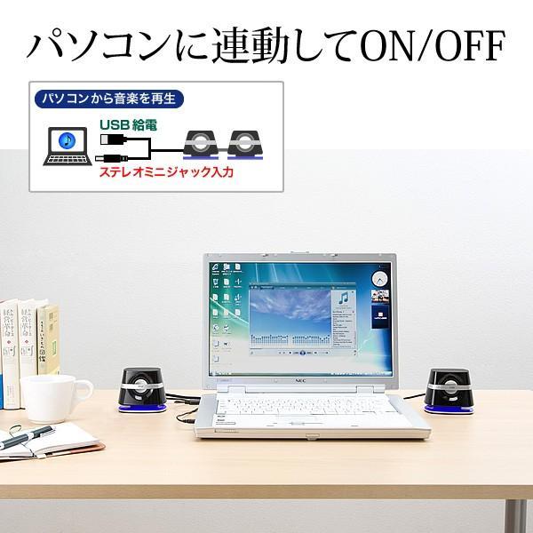 スピーカー 小型 USB PCスピーカー パソコンスピーカー コンパクト 高音質 スピーカー|sanwadirect|03