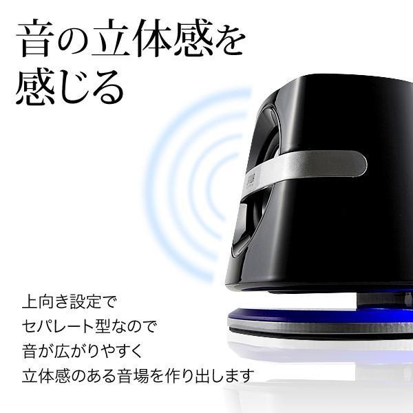 スピーカー 小型 USB PCスピーカー パソコンスピーカー コンパクト 高音質 スピーカー|sanwadirect|05
