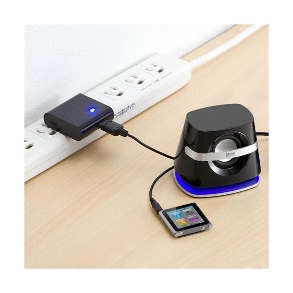 スピーカー 小型 USB PCスピーカー パソコンスピーカー コンパクト 高音質 スピーカー|sanwadirect|08