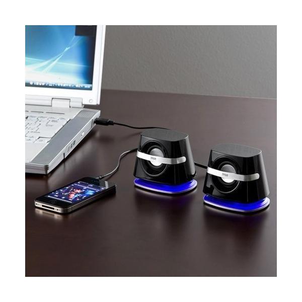 スピーカー 小型 USB PCスピーカー パソコンスピーカー コンパクト 高音質 スピーカー|sanwadirect|09