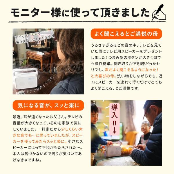 テレビスピーカー 手元スピーカー ワイヤレス テレビ用 TV 補聴 難聴 高齢者 ご高齢 ご老人の方へ 耳元 コードレス(即納) sanwadirect 18
