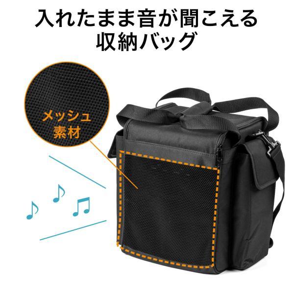 ワイヤレスマイク スピーカー セット 拡声器 アンプ内蔵 マイク付き ポータブルマイク 屋外|sanwadirect|11