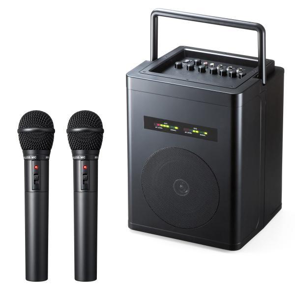 ワイヤレスマイク スピーカー セット 拡声器 アンプ内蔵 マイク付き ポータブルマイク 屋外|sanwadirect|20