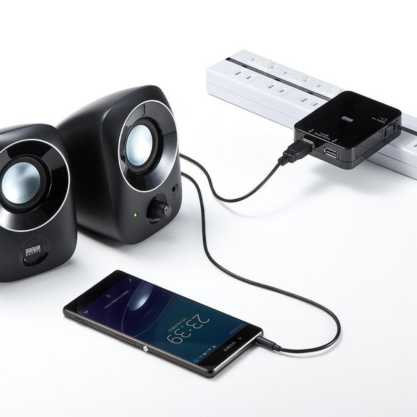 PCスピーカー パソコン PC USB スピーカー(即納)|sanwadirect|10